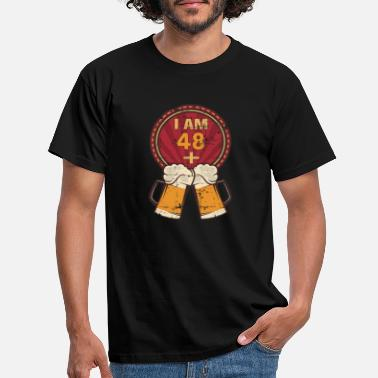 50th I Am 48 Plus 2 - Humorous 50th Birthday Party - Men's T-Shirt