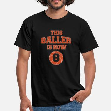 Match This Baller Is Now 8 - Kids 8th Birthday - Men's T-Shirt