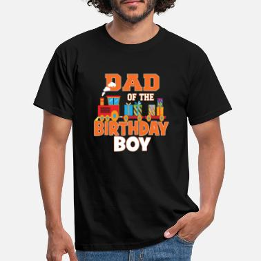 Birthday Dad Of The Birthday Boy Train Lover Bday Party - Men's T-Shirt