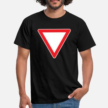 Grant Road sign Driving license Grant right of way - Men's T-Shirt