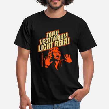 Vegan Tofu, Vegetables, Light Beer - Men's T-Shirt