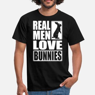 Real Real men love bunnies - T-shirt mænd