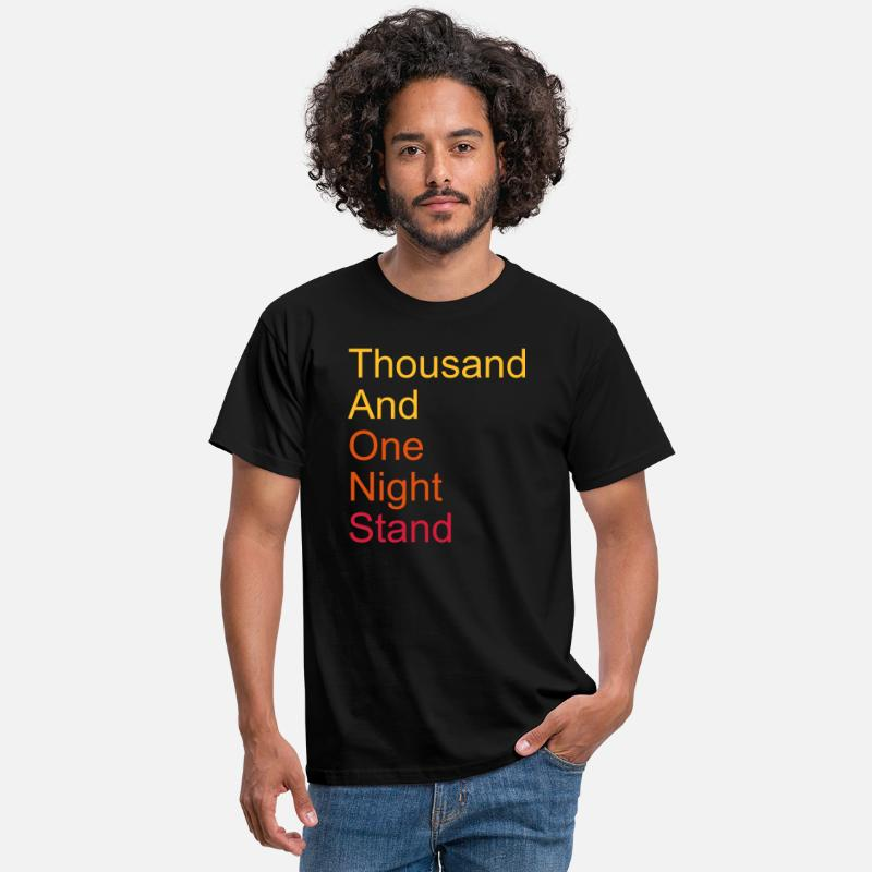 Quote T-Shirts - thousand and one night stand 3colors - Men's T-Shirt black