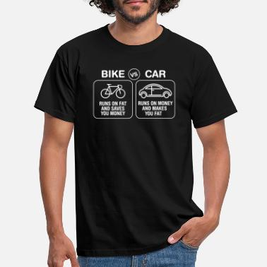 Biken Bike VS Car | Burn Fat Not Oil | Love Cycling - Männer T-Shirt