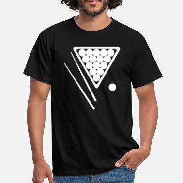 Snooker Snooker Rack and Cues - Men's T-Shirt