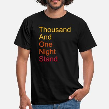 Forhold thousand and one night stand 3colors - T-skjorte for menn