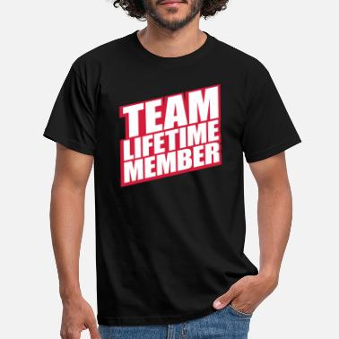 Group member lifetime member team friends group verei - Men's T-Shirt