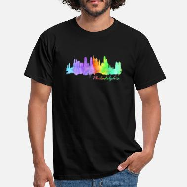 Liberty Bell Skyline Philadelphia - T-skjorte for menn