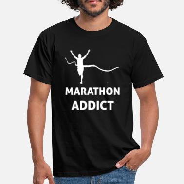Boston Marathon MARATHON ADDICT - T-shirt herr