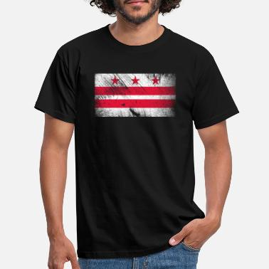De vintage vlag van Washington DC USA - Mannen T-shirt