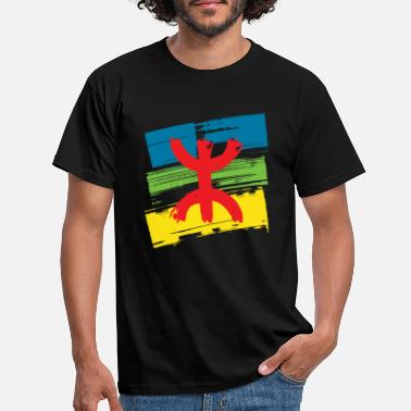 Z Amazigh flag (Amazigh inside) - Men's T-Shirt