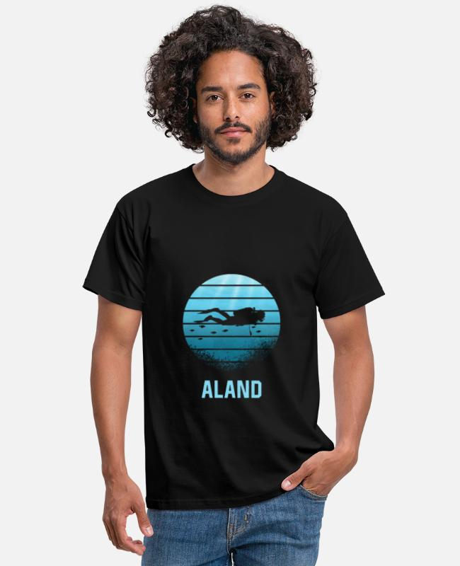 Scuba Diving T-shirts - Aland dykning - T-shirt mænd sort