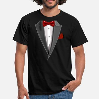 Red Tuxedo Tie Designs Tux red - Männer T-Shirt