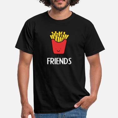 Pommes Best Friends, Beste Freunde, Partnershirt, Pommes - Männer T-Shirt