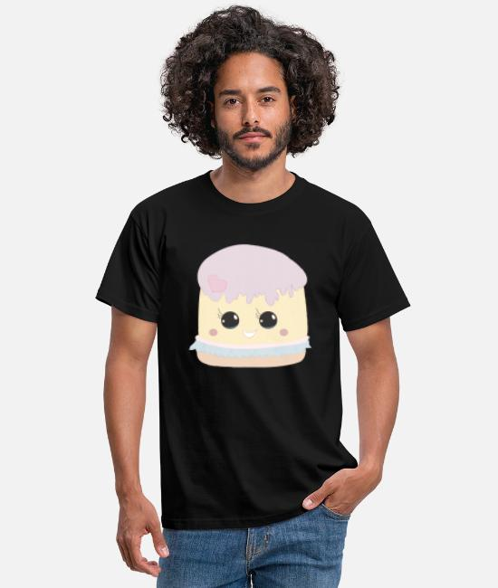 Beady Eyes T-Shirts - Sweet Heart Cake with Glubschaugen gift - Men's T-Shirt black
