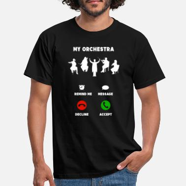 Orchestra Orchestra mobile musician funny gift - Men's T-Shirt