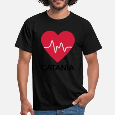 Catania heart Catania - Men's T-Shirt
