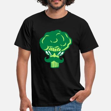 Tell It Again snor broccoli zonnebril cool snor ge - Mannen T-shirt