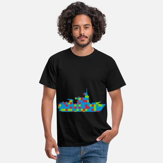 Waves T-Shirts - ship cruiser patterning new - Men's T-Shirt black