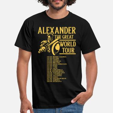 Studies Alexander the Great World Tour Greece - Men's T-Shirt