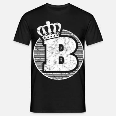 Elegante lettera B con corona Maglietta premium uomo