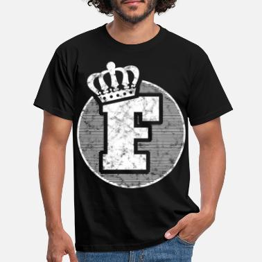 Lettering Stylish letter F with crown - Men's T-Shirt