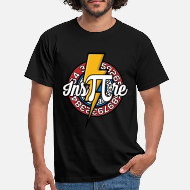 Pi Day Inspire PI - Pi Day mathematics circle number digits - Men's T-Shirt