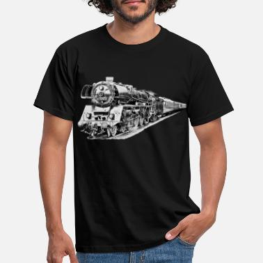 Steam Engine steam locomotive - Men's T-Shirt