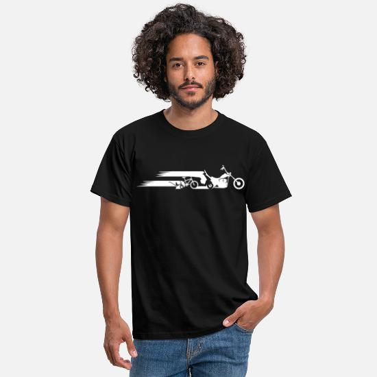 Motorcycle T-Shirts - Motorcycle chopper tail evolution - Men's T-Shirt black
