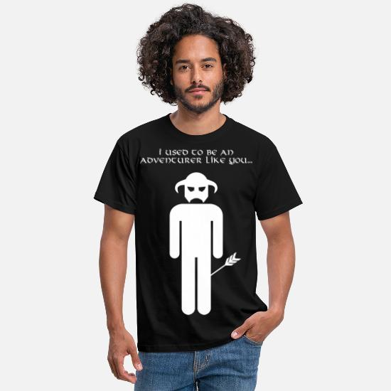 Miscellaneous T-Shirts - I used to be an adventurer like you... - Men's T-Shirt black