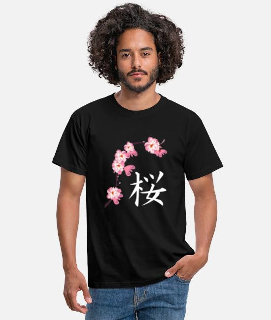 Asien (Country) T-shirts - Sakura Fest Cherry Blossoms Cherry Blossoms Japanese - T-shirt mænd sort