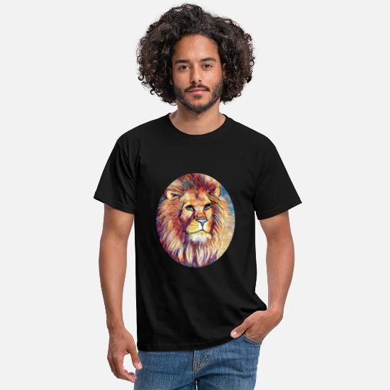 Birthday T-Shirts - lion's head - Men's T-Shirt black