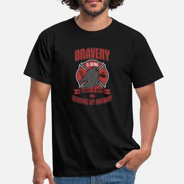 Bravery Fire department bravery - Men's T-Shirt