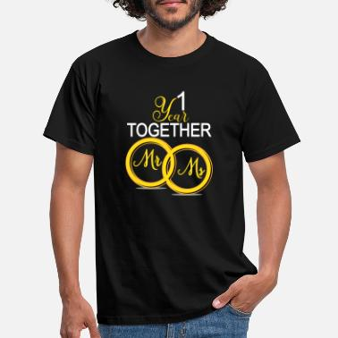 Wedding 1st anniversary - Männer T-Shirt