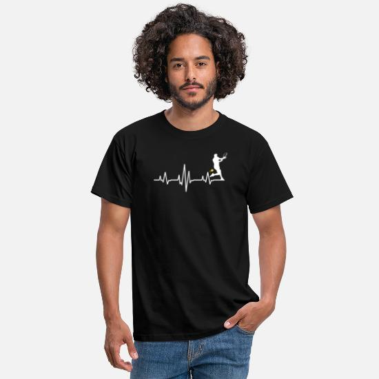 Tennis T-Shirts - Tennis Heartbeat for Players and Coaches - Men's T-Shirt black