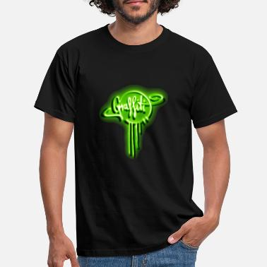 Gift NEON GRAFFITI DESIGN IN GIFT GRÜN - Männer T-Shirt