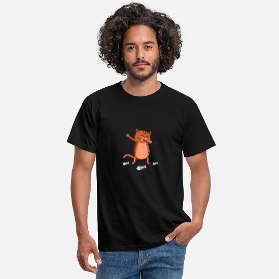 Cat T-Shirts - dabbing cat - Men's T-Shirt black
