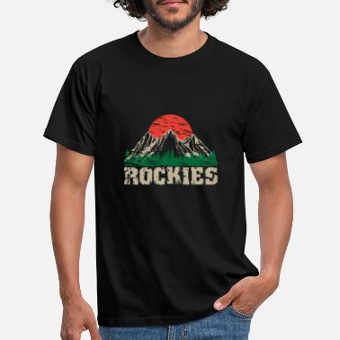 Rockies Rock Mountain Logo Rockies Bergen Zon - Mannen T-shirt