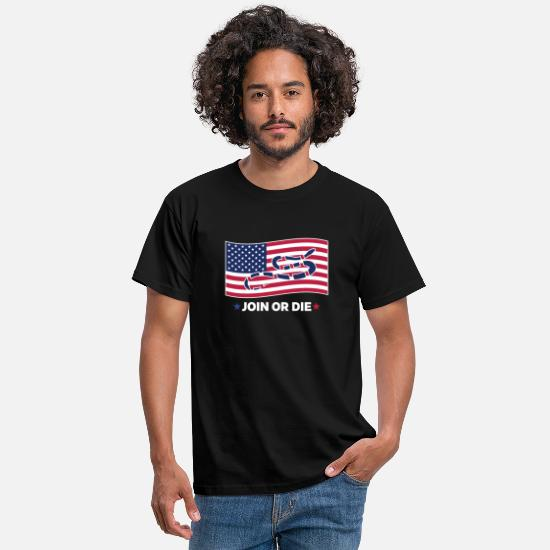 Cobra T-Shirts - Join Or The Flag - Men's T-Shirt black