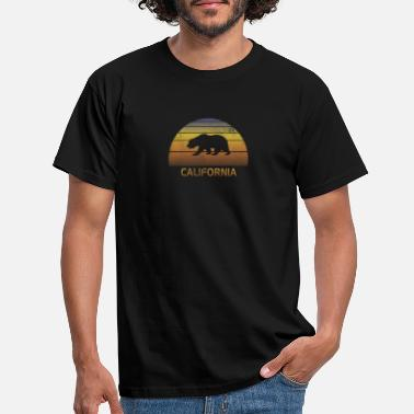 College Football Vintage California Sunset Bear Colorful Cool - T-skjorte for menn