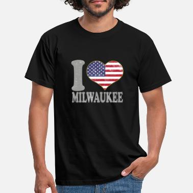 Element I Heart Milwaukee City Pride July 4th American - Men's T-Shirt