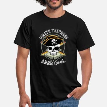 Fluffy Pirate Teacher design, Teacher Tee, Educational - Men's T-Shirt