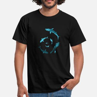 Swimming with Sharks - Men's T-Shirt