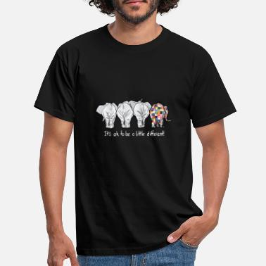 Different it is ok to be a little different elephant autism - Men's T-Shirt