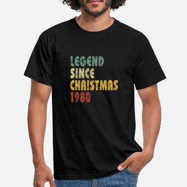 Sted Legend since Christmas 1980 Funny Quote Birthday - T-skjorte for menn
