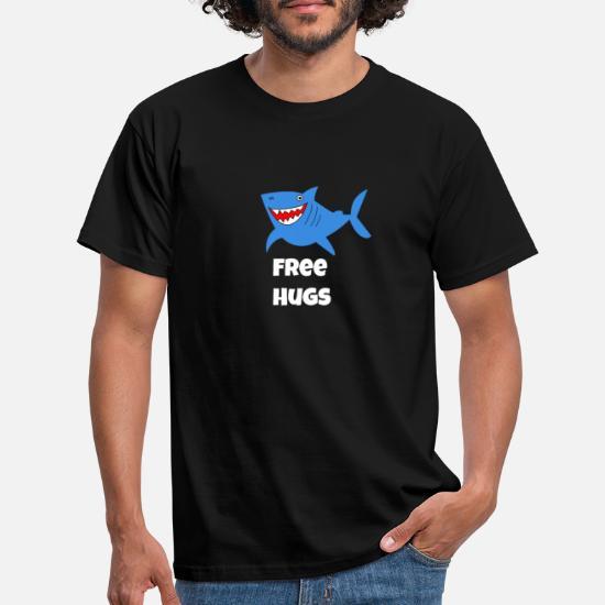 Free Hugs Shark Sarcastic Meme Gift Men S T Shirt Spreadshirt