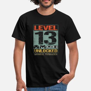 Teenagere Niveau 13 ulåst 13th Gamer Birthday Teenager - T-shirt mænd