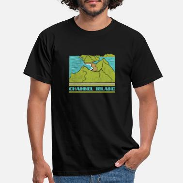 Channeling Channel Island National Park Skyline Retro Citysca - Mannen T-shirt