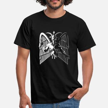 Satanic Baphomet - goats with angel wings - Men's T-Shirt