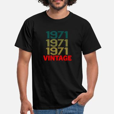Vintage Retro Vintage 1971 49th Birthday Gift For Men Wom - Men's T-Shirt